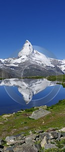 Stellisee Matterhorn River Fine Art Pictures Shore Country Road Fine Art Photography Stock Photo - 002787 - 15-07-2008 - 4225x9848 Pixel