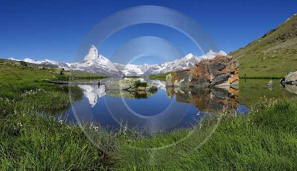 Stellisee Matterhorn Zinalrothorn Image Stock Landscape Photography Fine Art Posters Senic Leave - 002782 - 15-07-2008 - 7256x4177 Pixel