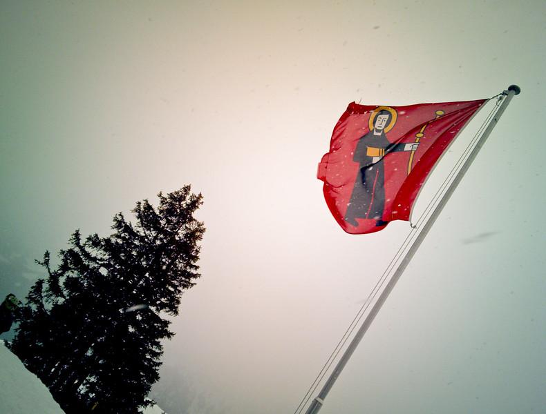 St. Fridolin on the Glarus flag