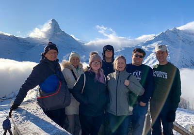 Family at Sunnegga, above Zermatt.