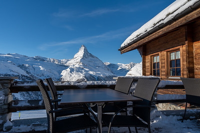 Morning at Sunnegga, above Zermatt.