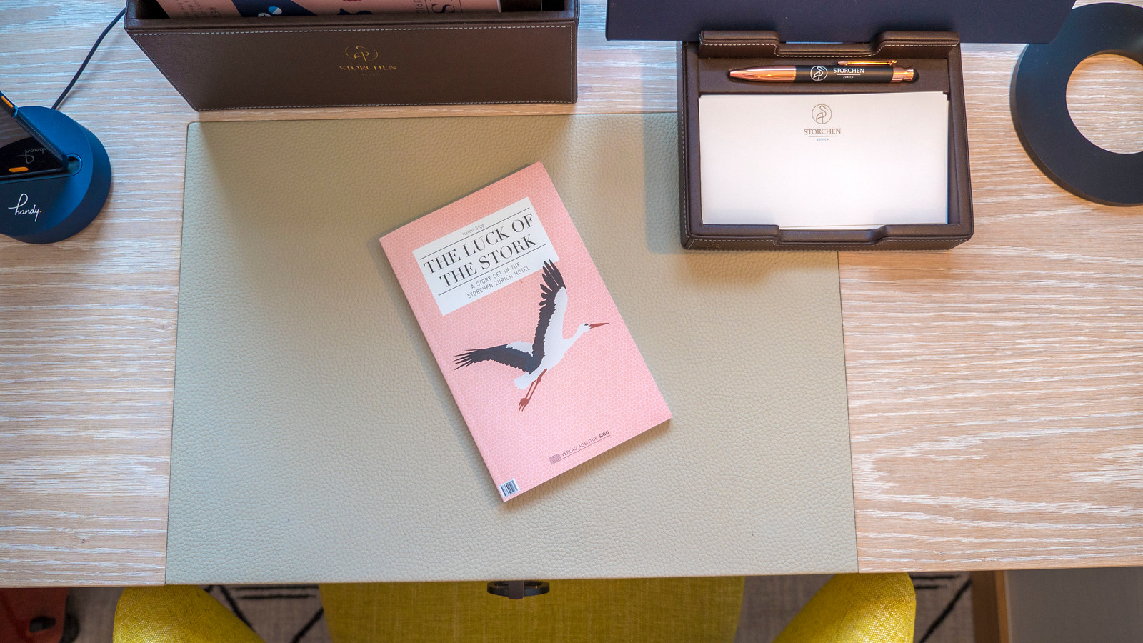 The Luck of the Stork, a novel featuring the Hotel Storchen Zurich.