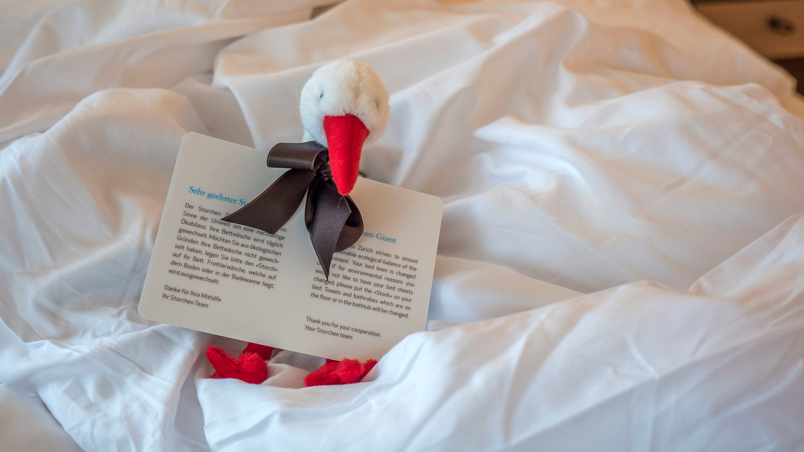 Stork toy at Hotel Storchen Zurich, Switzerland.