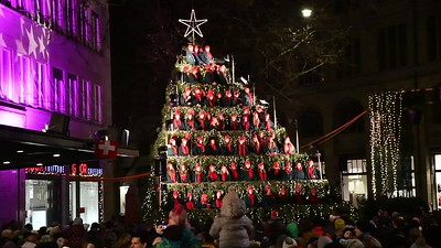 Singing Christmas Tree, Zurich.