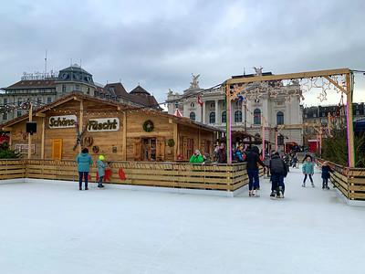 Eisbahn, Bellevue Christmas Market, Zurich.