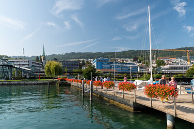 Seen from aboard the Lake Zurich passenger boat.