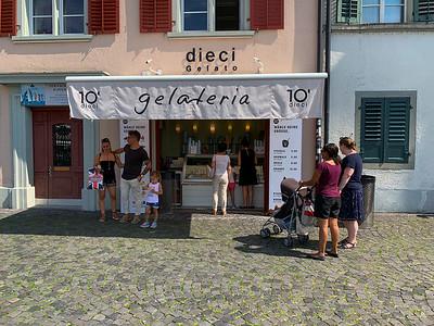 Gelato shop in Rapperswil, Switzerland.