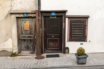 A crooked old house in Zurich.