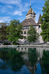 Landesmuseum, across the Limmat river, Zurich.