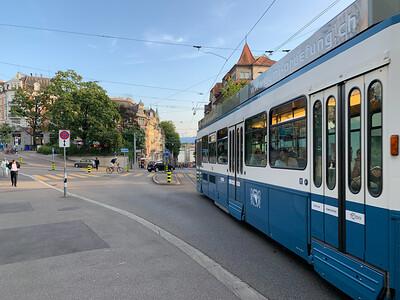 Weinbergstrasse, Zurich, on a sunny summer afternoon.