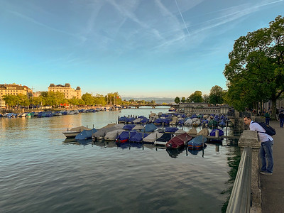 Scenes along the Limmat river, Zurich.