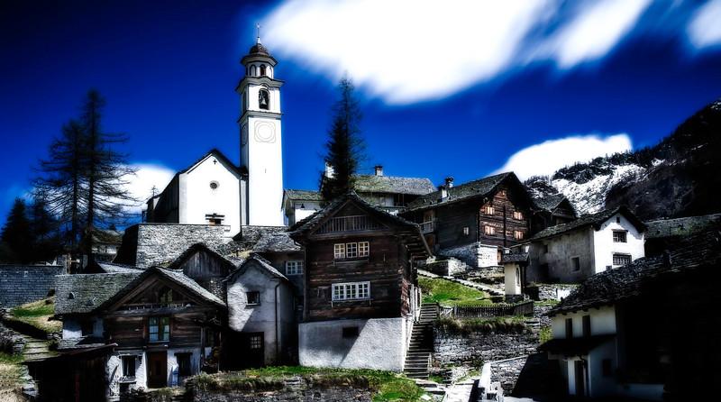 Bosco Gurin; Valle Banova; Tessin; Switzerland