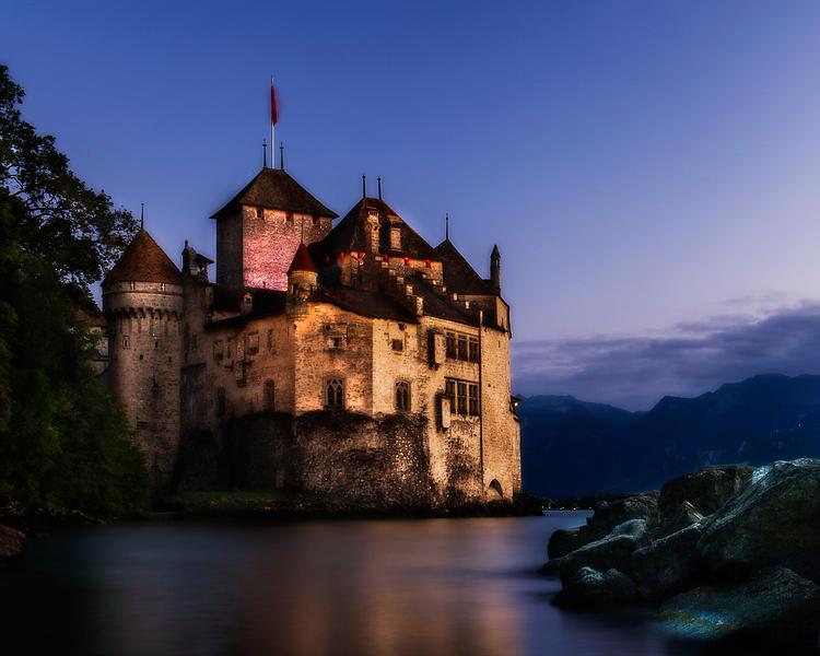 Chateau de Chillon; Veytaux; Vaud; Switzerland