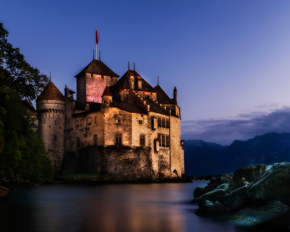 Chateau de Chillon; Veytaux; Vaud; Switzerland