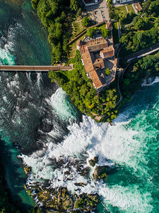 Rhine Falls Castle look down