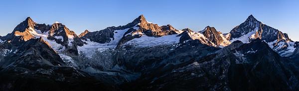 Obergabelhorn - Zinalrothorn - Weisshorn