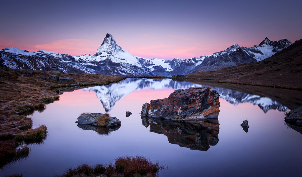Stellisee at Dusk, Zermatt
