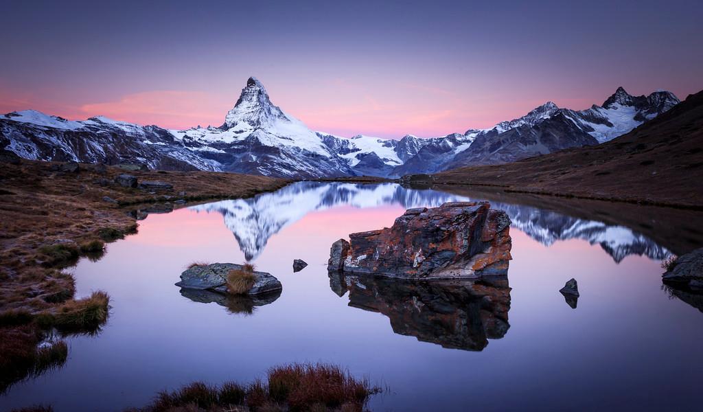 Stellisee at Dusk, Zermatt