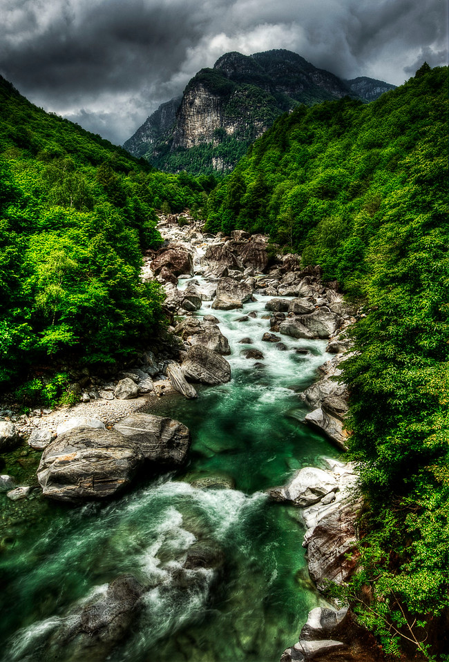 Valle Verzasca; Tessin; Switzerland