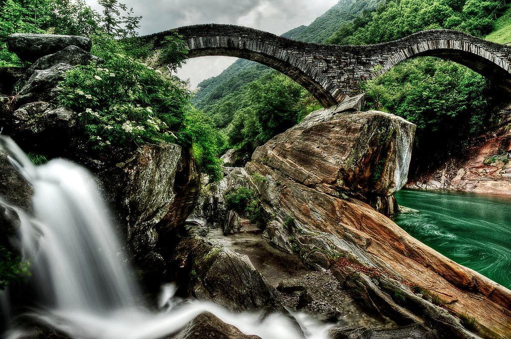 Pontei dei Salti; Lavertezzo; Valle Verzasca; Tessin; Switzerland
