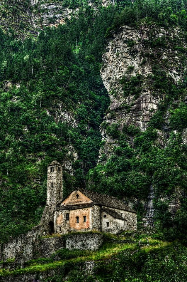 Santa Maria del Castello; Giornico; Tessin; Switzerland