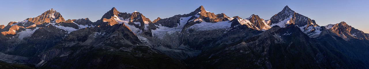 Dent Blanche - Obergabelhorn - Zinalrothorn - Weisshorn