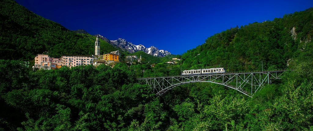 Centovalli Railway; Intragna; Centovalli; Tessin; Switzerland