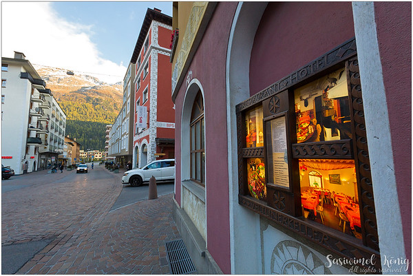 Dinner here, at Veltlinerkeller, St. Moritz, Switzerland
