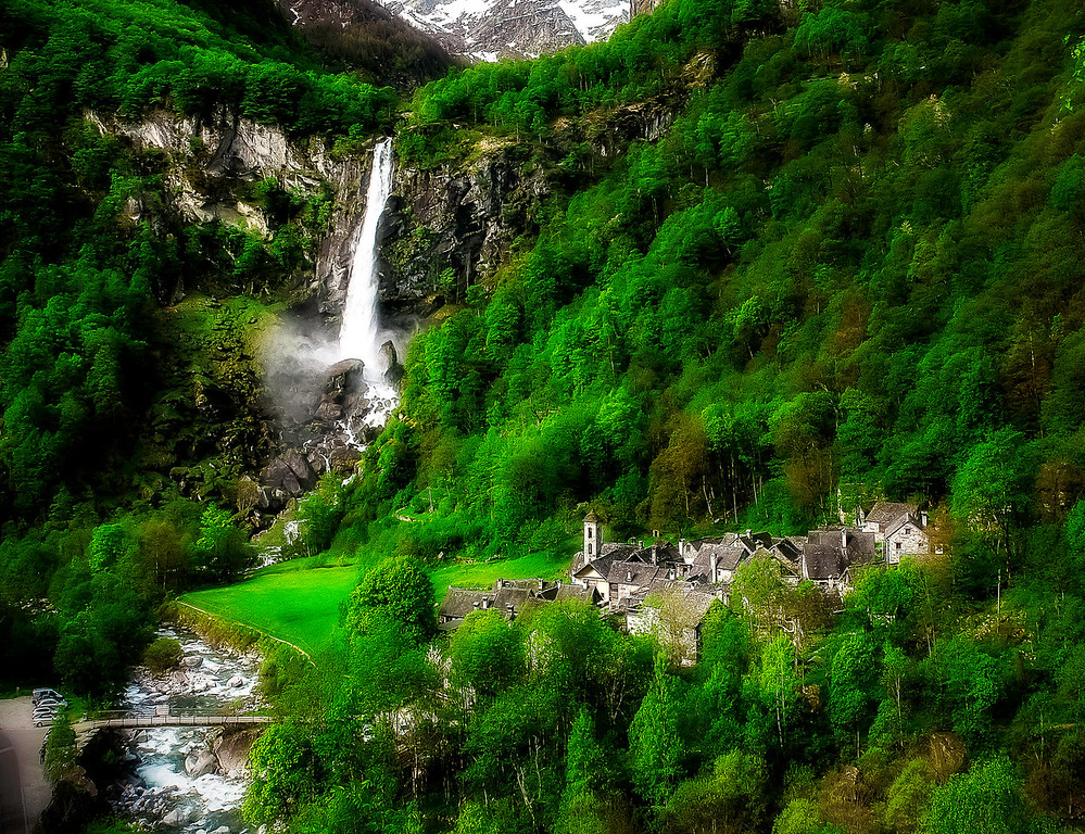 Foroglio; Valle Bavona; Tessin; Switzerland