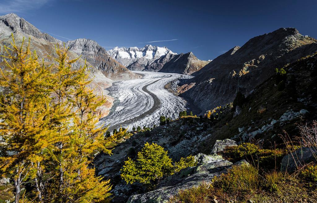 Great Aletsch Glacier, Autumn