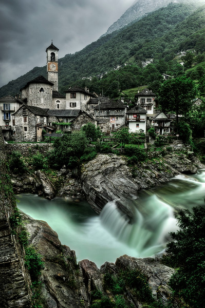 Lavertezzo; Valle Verzasca; Tessin; Switzerland