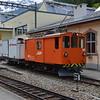 Rhb 151 on shed at Poschiavo 07/06/16