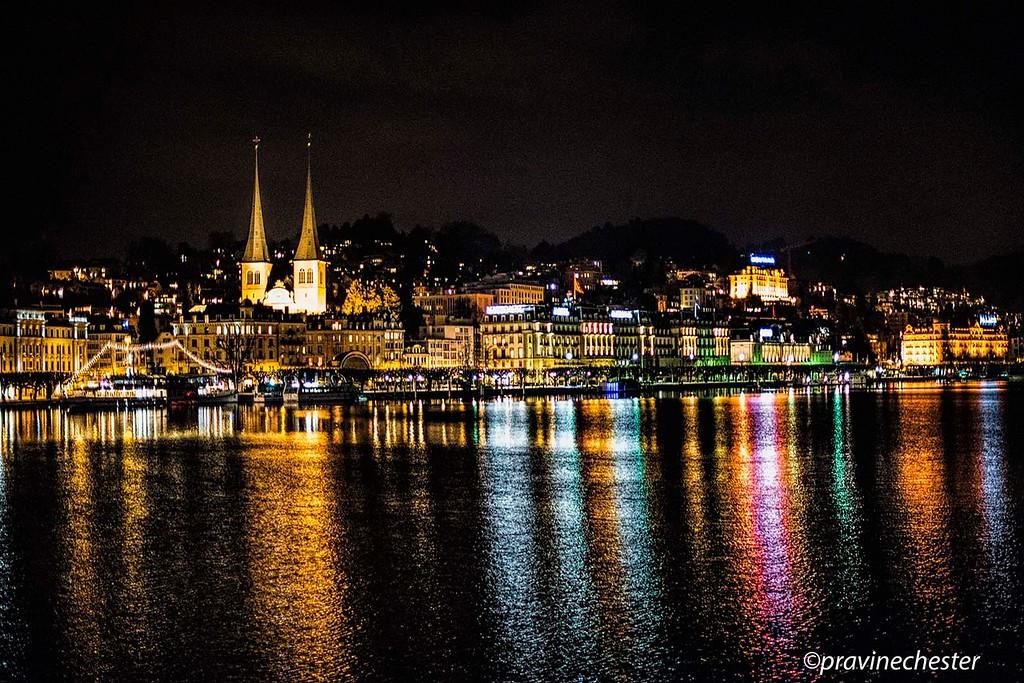 Lucerne Skyline at night