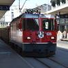Rhb 626 passes through Chur with a log train 06/06/16