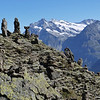 These are little cairns built in a group near the top of the mountain between Mannlichen and Kleine Sheidigg.