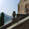 The view of Lake Lugano from the Chiesa (church) in Morcote.