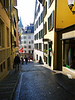 Lots of cobblestones in old Zurich.