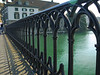 Pretty ironwork on one of many bridges.  This river drains Lake Zurich -- flowing North.