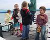 Kids doing what kids do, while speaking German.