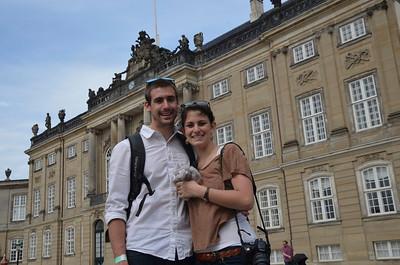 Tourists at the Royal Palace