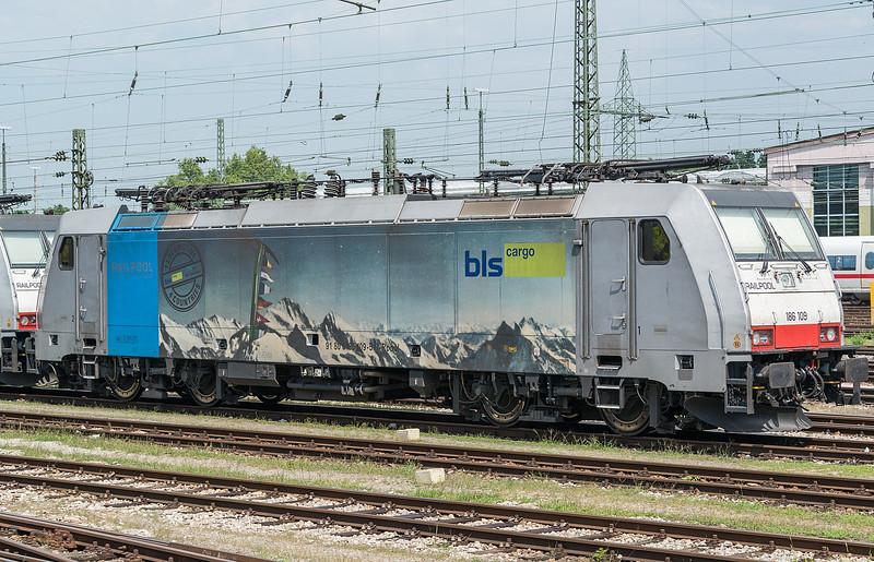 Railpool 186-109 Basel Badischer Bf. 1 August 2017