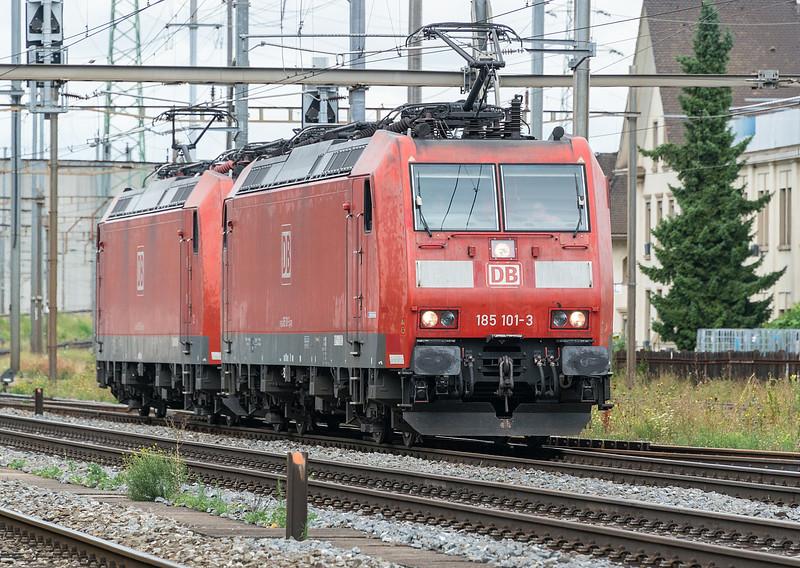DB 185-101 + 185-094 Pratteln 4 August 2017