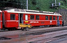 RhB Be4/4 516 is seen at Filisur with a recently arrived train from Davos Platz on 4 July 1988