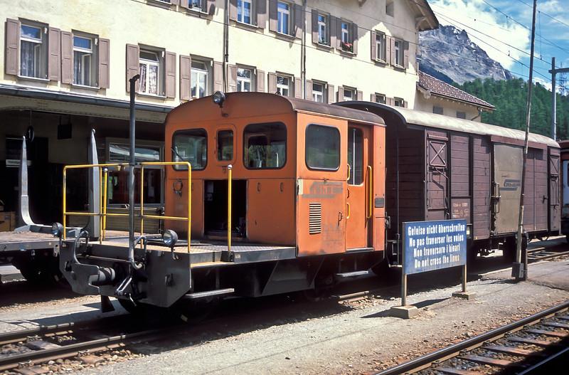 RhB Tm2/2 62 at Pontresina on 2 July 1988