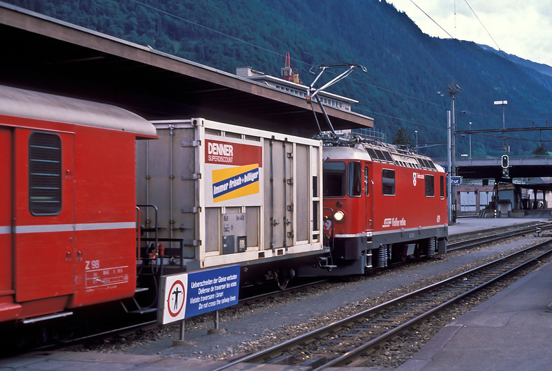 RhB Ge4/4 II 629 'Tiefencastel' at Chur on 4 July 1988