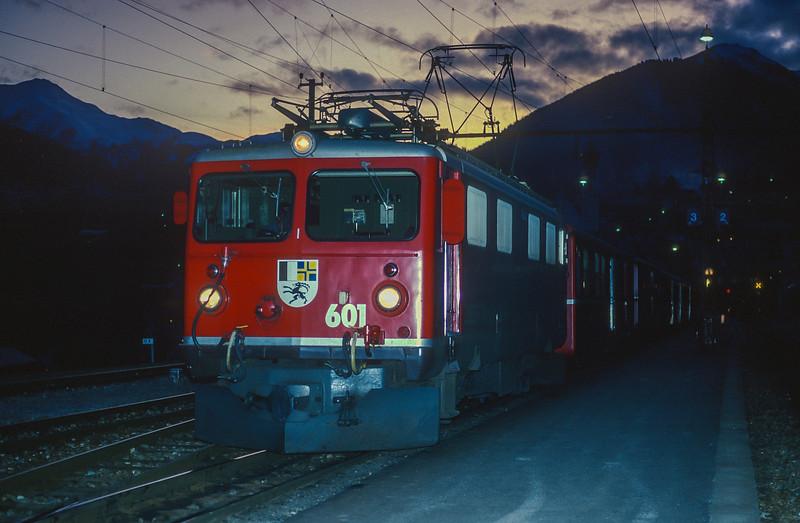 RhB 601 Disentis 4 November 1993
