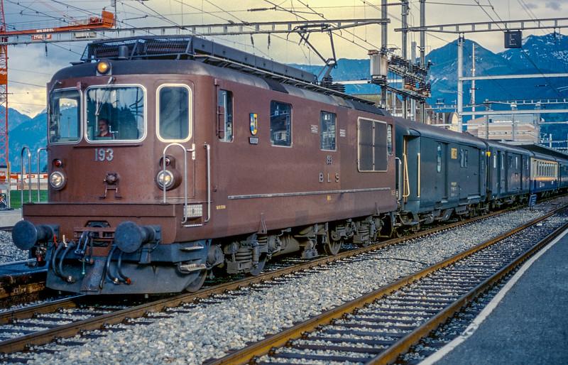BLS 193 Spiez 13 June 1997