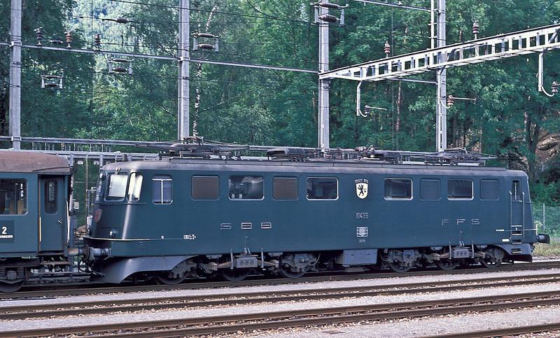 Ae6/6 'Stadt Wil' is at Arth Goldau on 3 July 1988