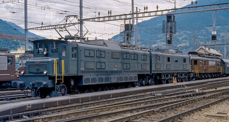 SBB 11801 + BLS  205 Brig 13 June 1997