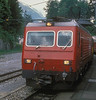SBB Brunig Line HGe4/4 1952 runs into Brunig with train 6325, the 0933 from Interlaken to Luzern, on 7 July 1988